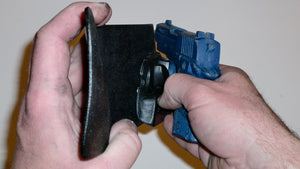 Wallet style top covered back pocket holster for licensed concealed weapon carry of Sig Sauer P938