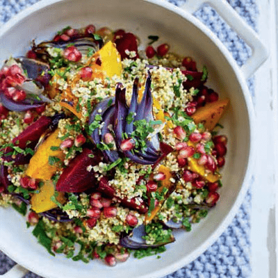 Quinoa, Beetroot, Pomegranate & Pistachio Xmas Salad