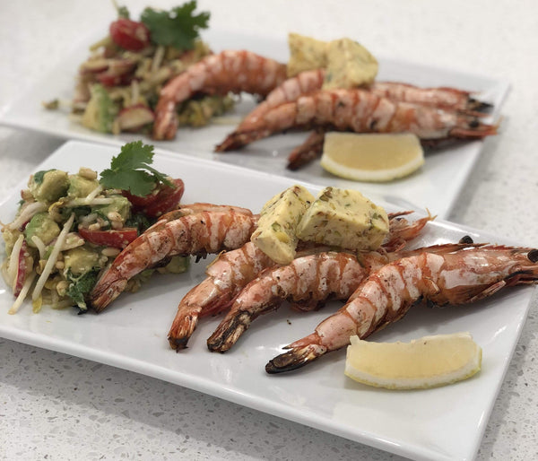 Prawns with Asian Salad