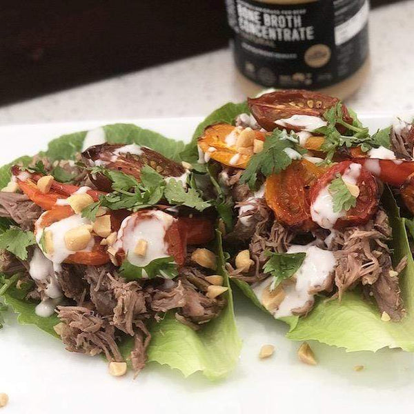 Slow Cooked Pulled Lamb Leaves