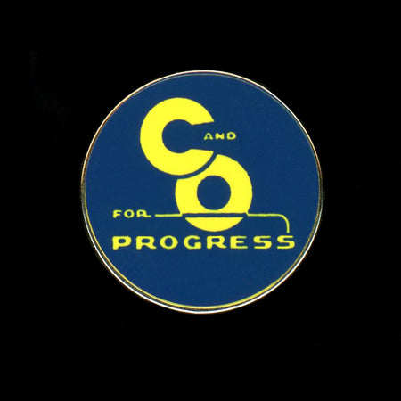 C&O for Progress Railroad Pin