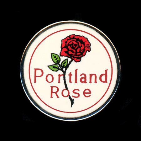 Portland Rose Railroad Pin
