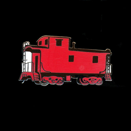 Red Caboose Railroad Pin