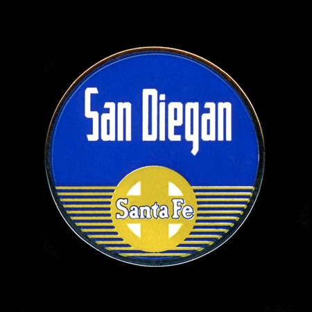 San Diegan Railroad Pin