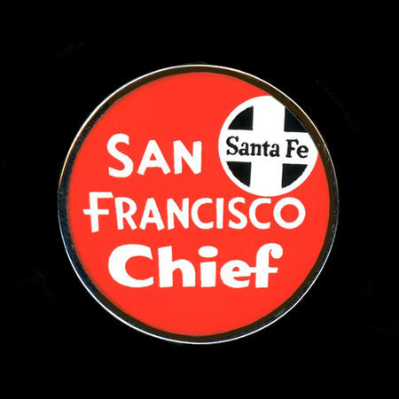 San Francisco Chief Railroad Pin