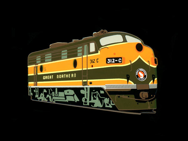 Great Northern F7 Locomotive Pin