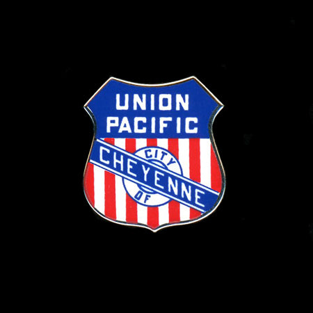 The City of Cheyenne Railroad Pin