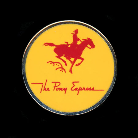 The Pony Express Railroad Pin