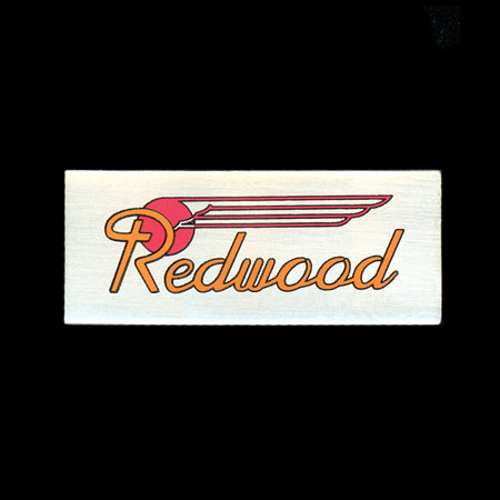 Redwood Car Plate Railroad Pin