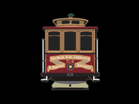 California-Van Ness Cable Car #54 Pin