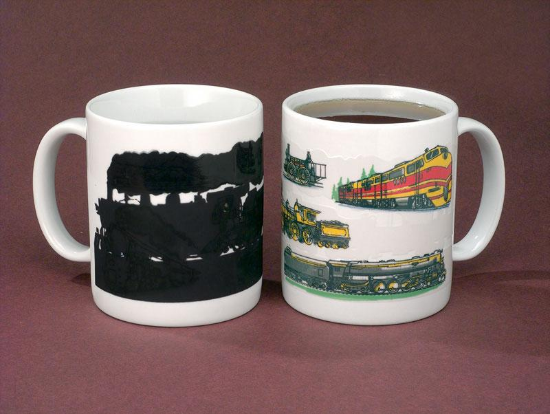 Color Changing Train Wondermug Coffee Mug