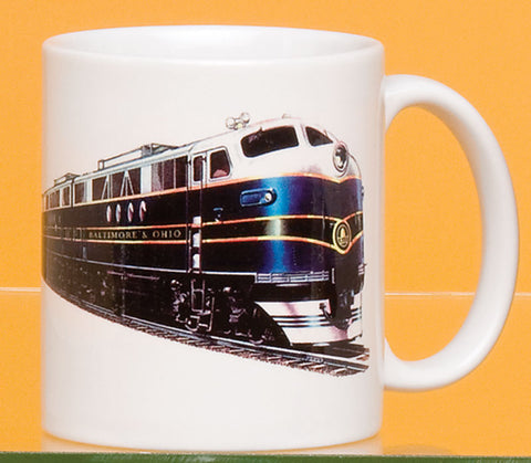 B&O Engine with Logo Mug