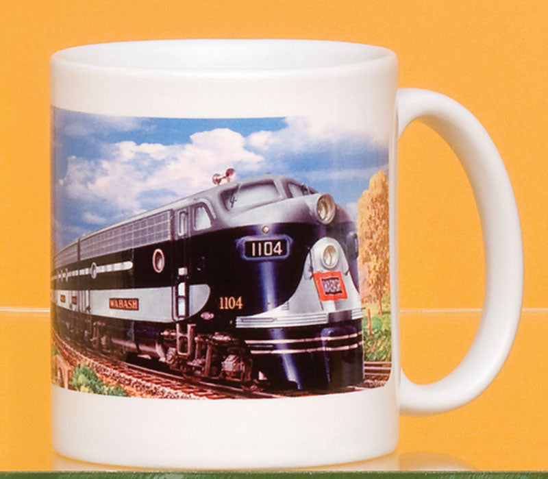 Wabash #1104 Engine with Logo Landscape Mug
