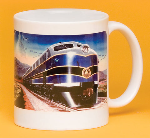 B&O Freight Engine with Logo Landscape Mug