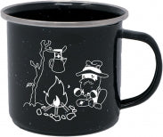 Black Enamel Hobo Mug