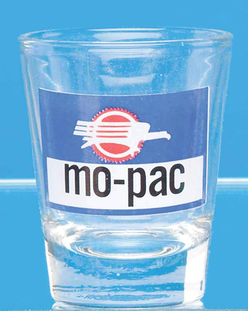 Mo-Pac Logo Shot Glass