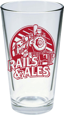 Rails & Ales Pint Glasses