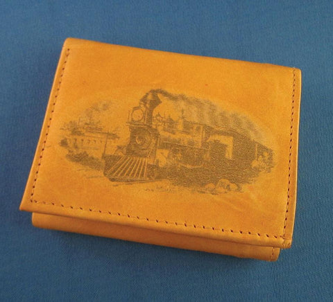 Tri-fold Billfold- Steam Locomotive