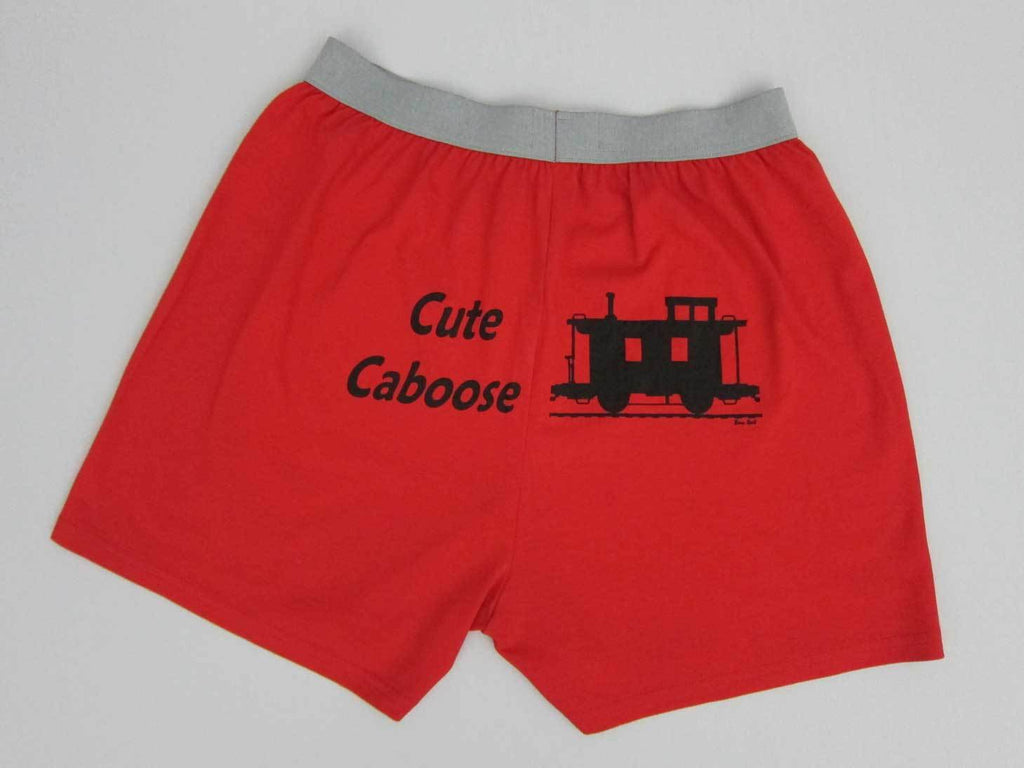 Cute Caboose Red Boxer Shorts