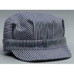 Hickory Stripe Engineer Flat Top Hat - Adjustable