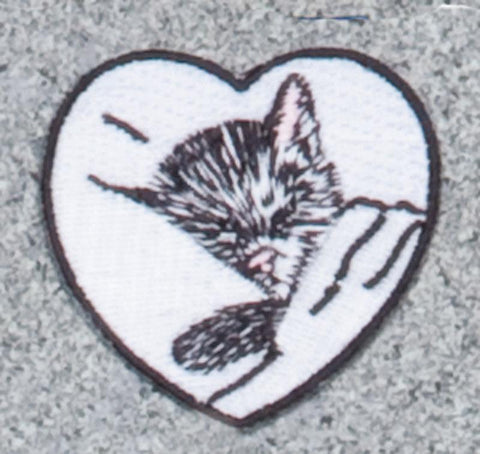 Chessie Kitten in Heart Railroad Logo Patch