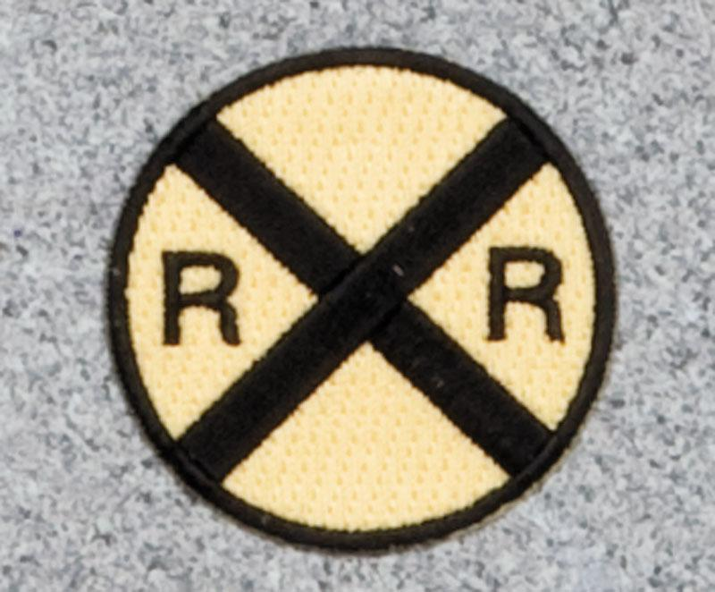 Railroad Crossing Railroad Logo Patch