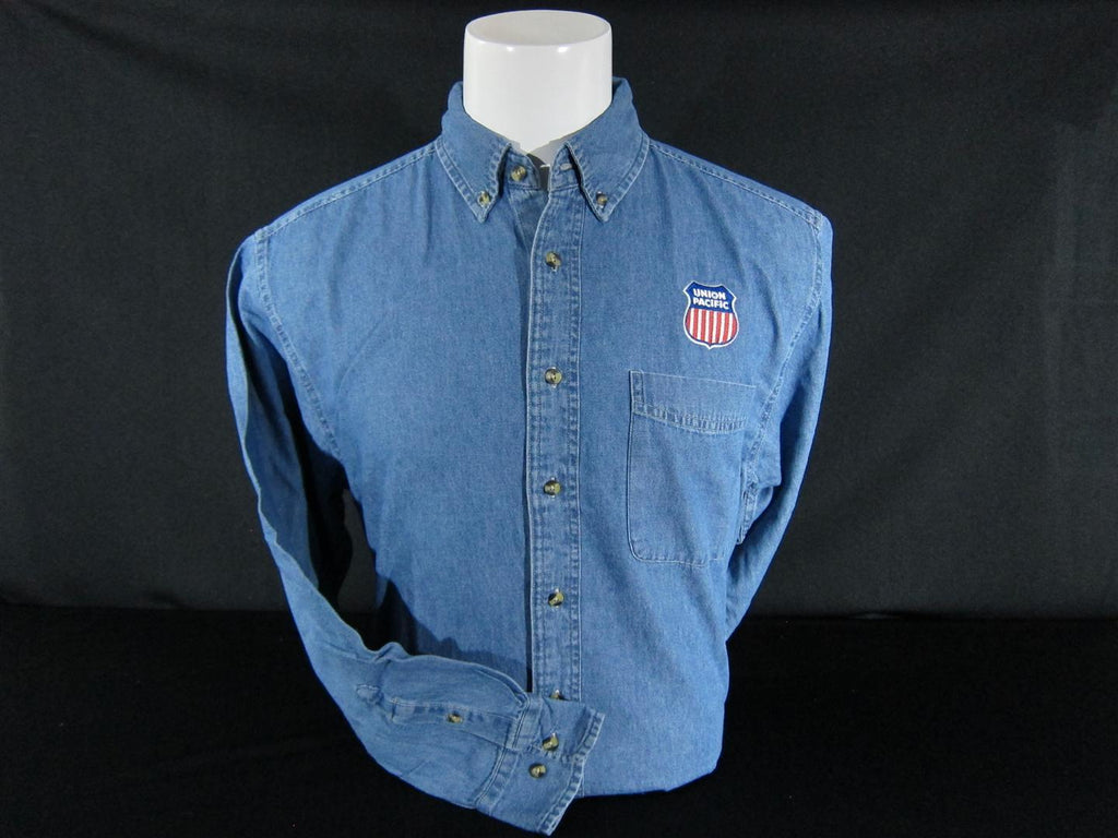 Union Pacific Embroidered Logo Denim Shirt