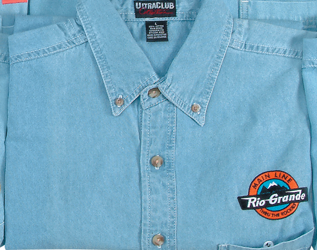 Rio Grande Main Line Embroidered Logo Denim Shirt
