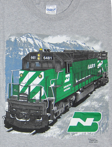 Burlington Northern Locomotive T-Shirt