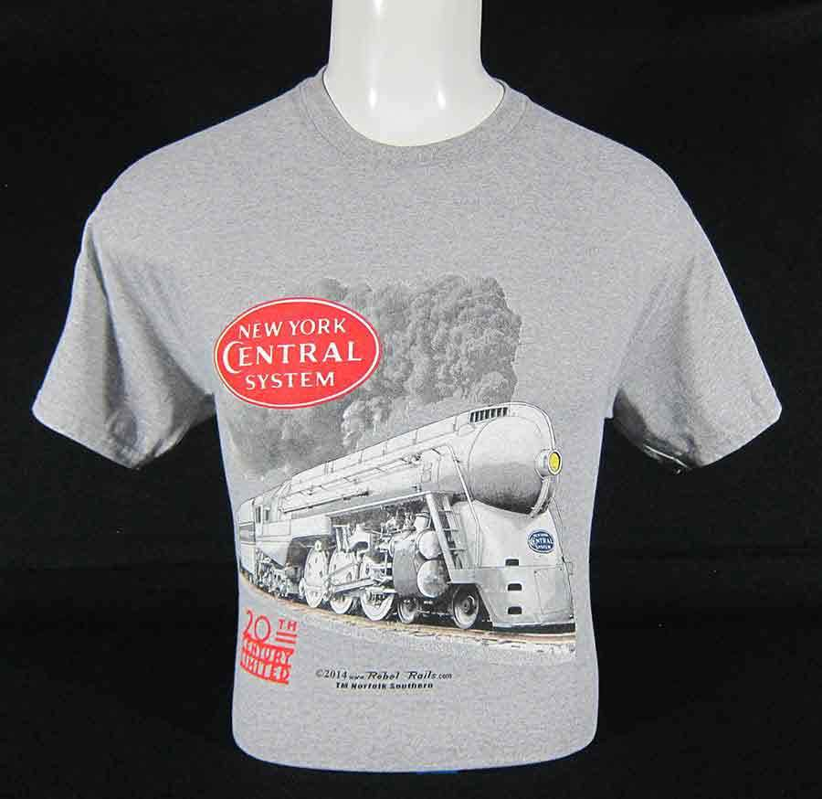 New York Central 20th Century Limited Steam Locomotive T-Shirt