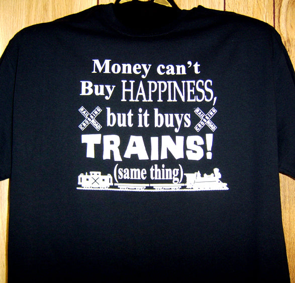 Money Buys Trains Tee Adult