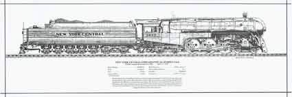 New York Central Streamlined Hudson J3a Rolled Print