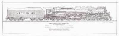 Virginian Railway AG Allegheny Engine Rolled Print