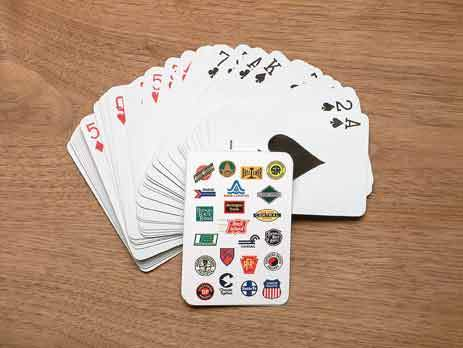 Railroad Logo Playing Cards