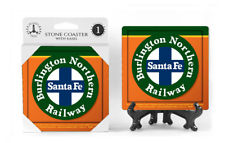 Burlington Northern Sante Fe Railway Logo Absorbent Ceramic Stone Coaster