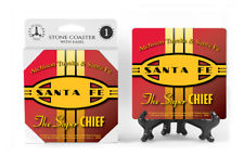 Sante Fe Super Chief Logo Absorbent Ceramic Stone Coaster