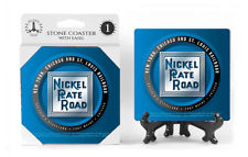 Nickel Plate Road Logo Absorbent Ceramic Stone Coaster