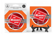 The Milwaukee Road Logo Absorbent Ceramic Stone Coaster