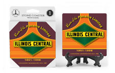 Illinois Central Logo Absorbent Ceramic Stone Coaster