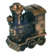 Bronze Metal Train Bank