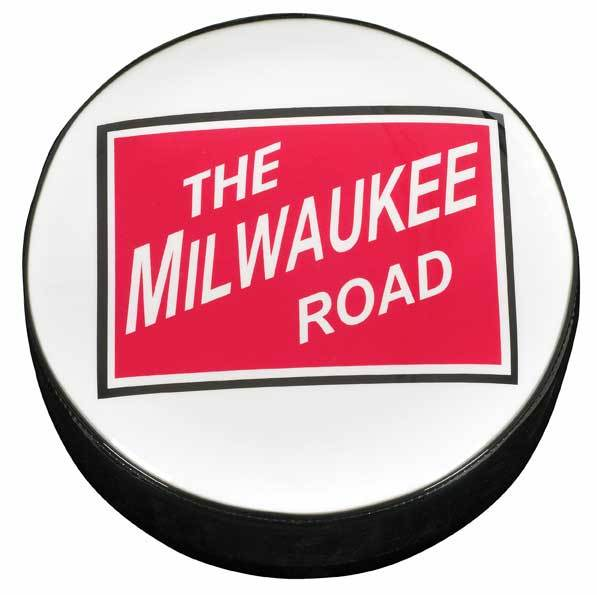 The Milwaukee Road Logo Stool