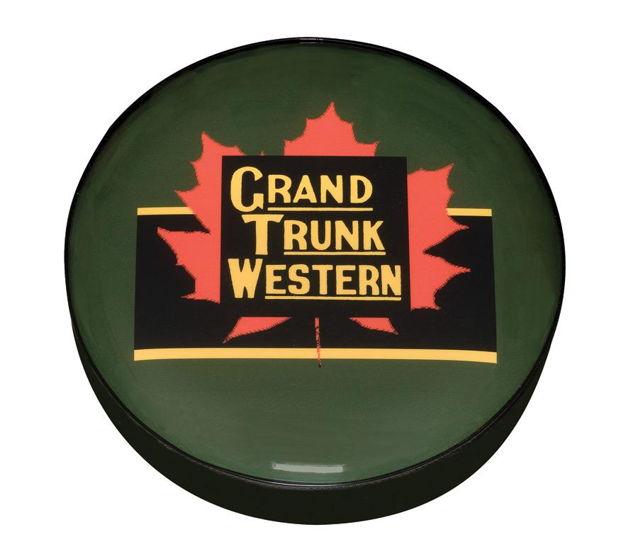 Grand Trunk Western Railroad Logo Stool