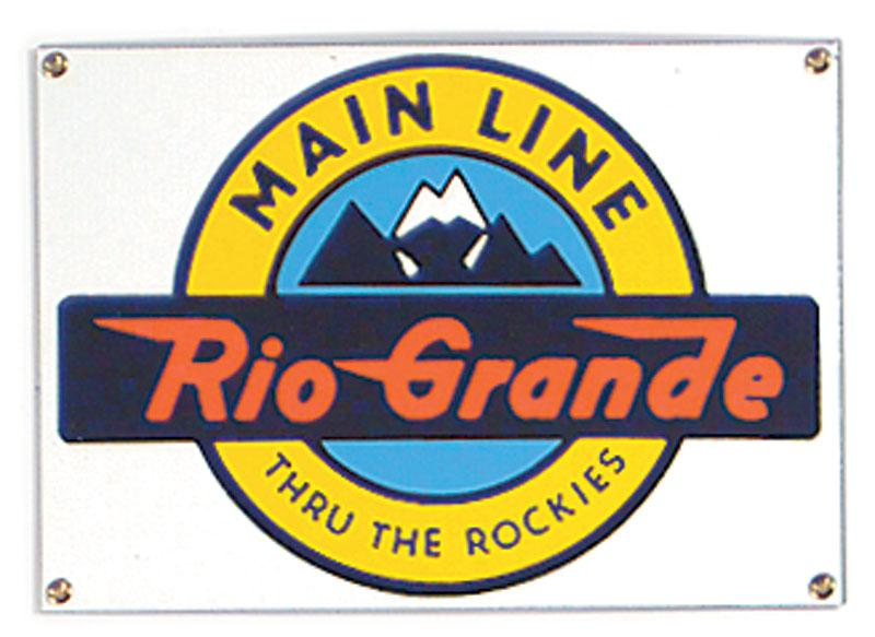 Rio Grande Main Line Porcelain Sign