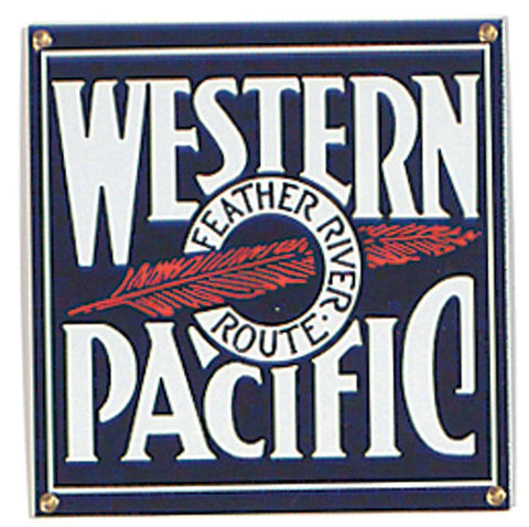Western Pacific Porcelain Sign