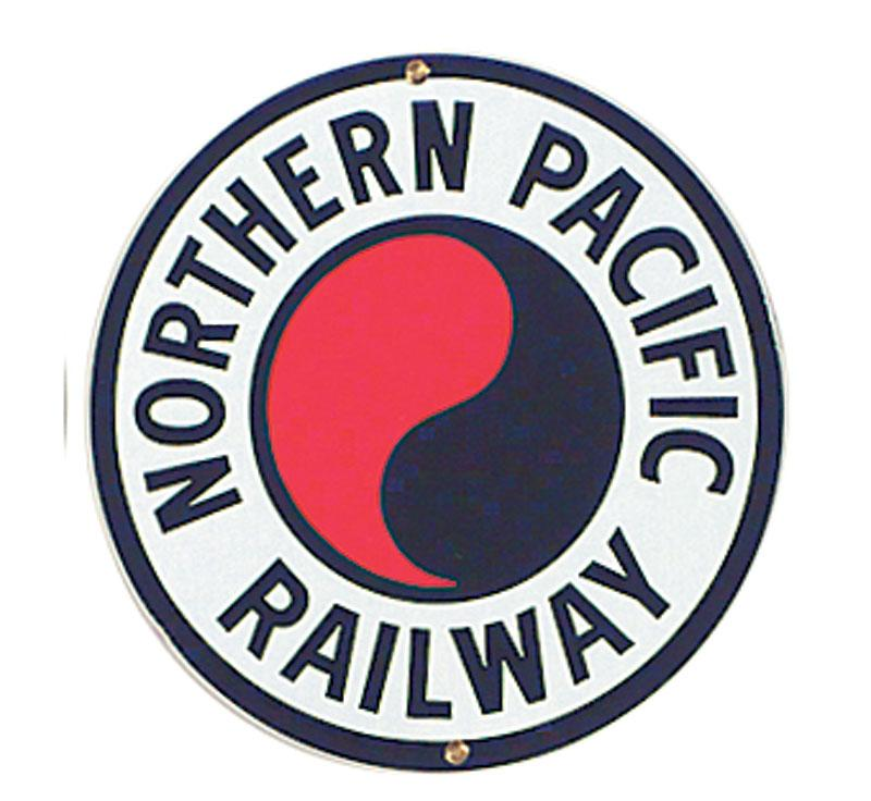 Northern Pacific Porcelain Sign
