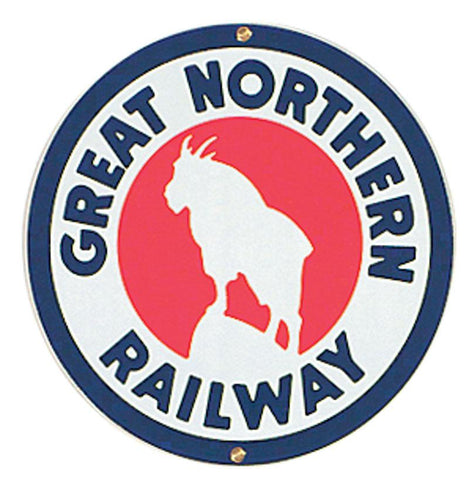 Great Northern Railway Porcelain Sign