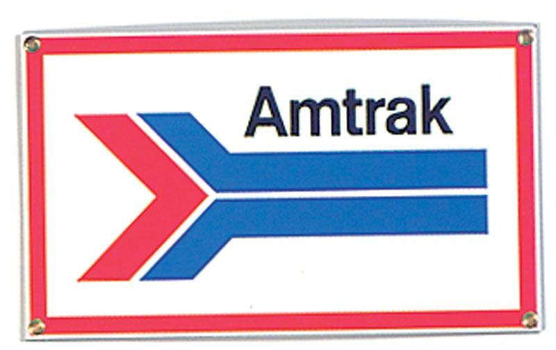 Amtrak Porcelain Sign