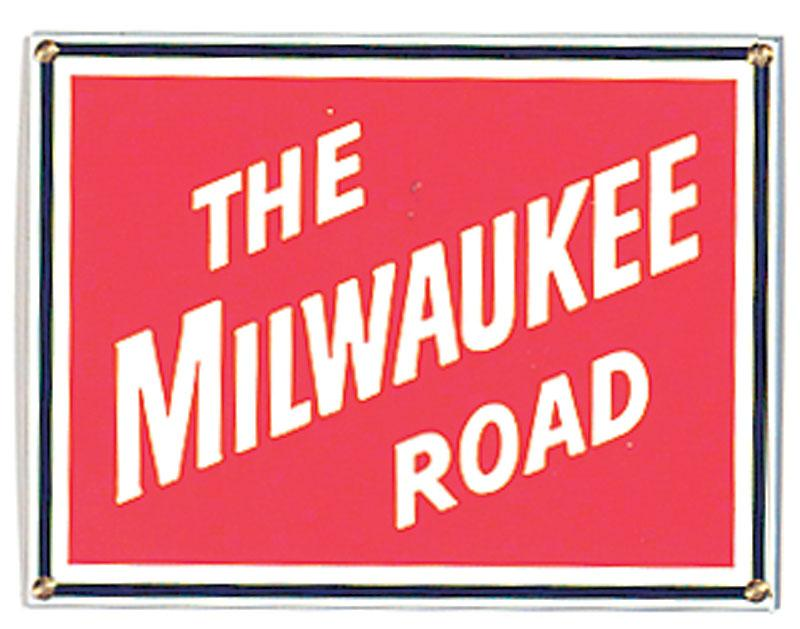 The Milwaukee Road Porcelain Sign
