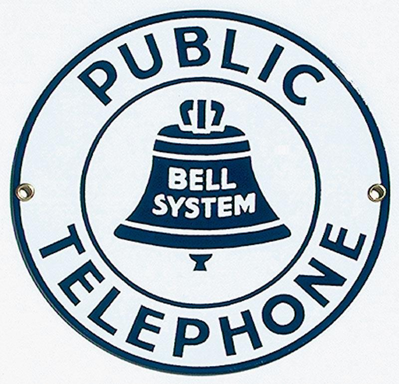 Public Telephone Porcelain Sign