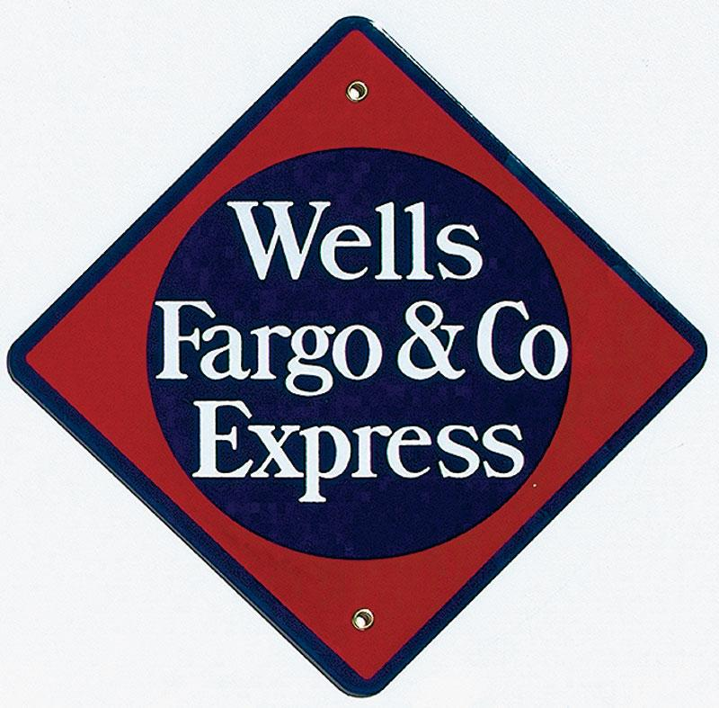 Wells Fargo & Co. Express Porcelain Sign